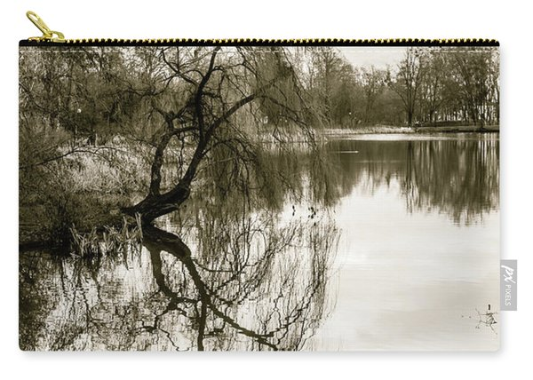 Weeping Willow Tree In The Winter Carry-all Pouch