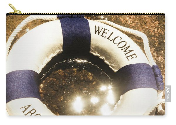 Welcome Aboard Nautical Paradise Carry-all Pouch