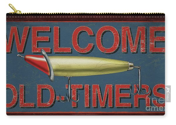 Welcome Fishing Sign Carry-all Pouch