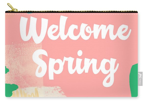Welcome Spring- Colorful Art By Linda Woods Carry-all Pouch