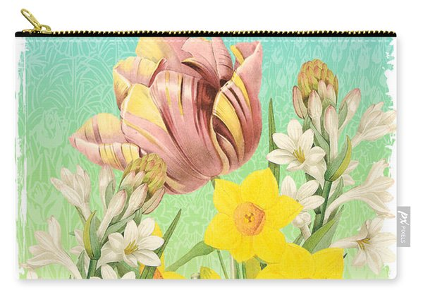 Welcome Spring Flowers-jp2775 Carry-all Pouch