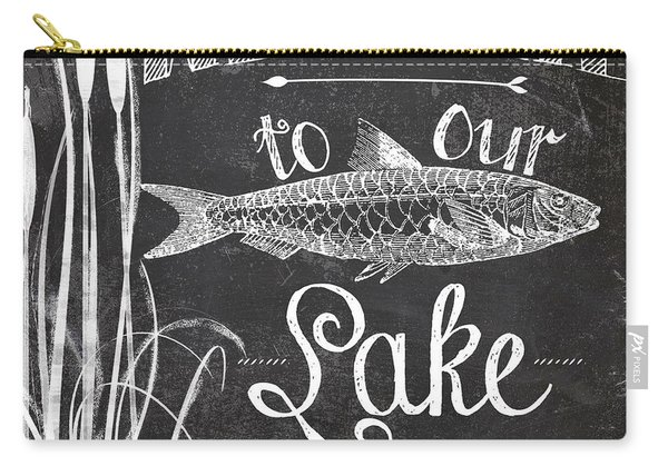 Welcome To Our Lake House Sign Carry-all Pouch