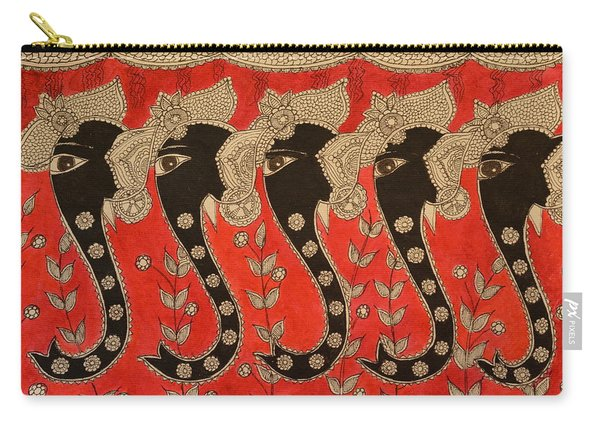 Welcoming Elephant Carry-all Pouch