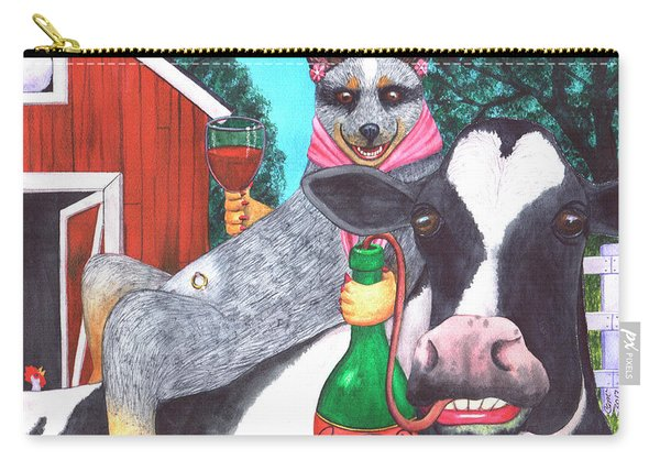 We'll Be Wining Til All The Cows Come Home Carry-all Pouch