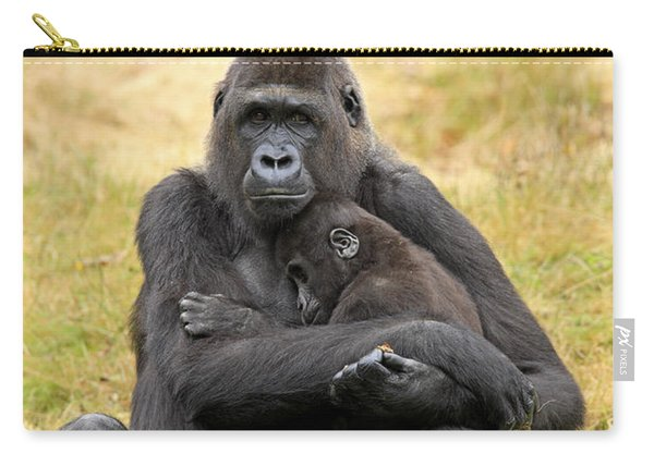 Western Gorilla And Young Carry-all Pouch