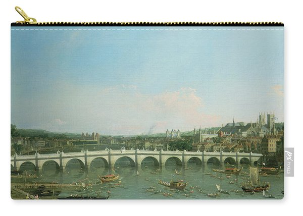 Westminster Bridge From The North With Lambeth Palace In Distance Carry-all Pouch