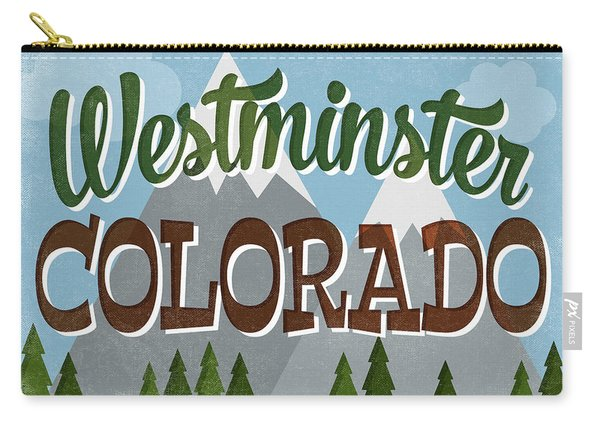 Westminster Colorado Snowy Mountains Carry-all Pouch