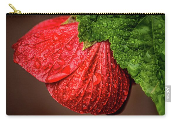 Wet Flower-abutilon Carry-all Pouch