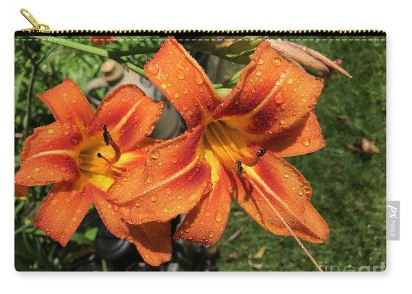 Wet Tiger Llilies Carry-all Pouch
