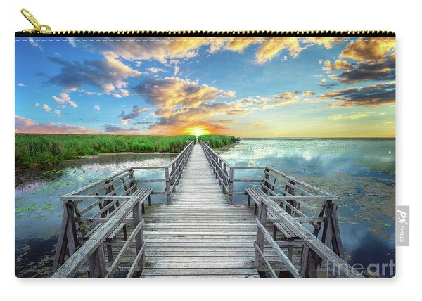 Wetland Marsh Sunrise Treasure Coast Florida Boardwalk A1 Carry-all Pouch