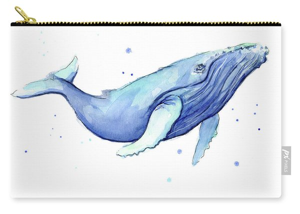 Whale Watercolor Humpback Carry-all Pouch