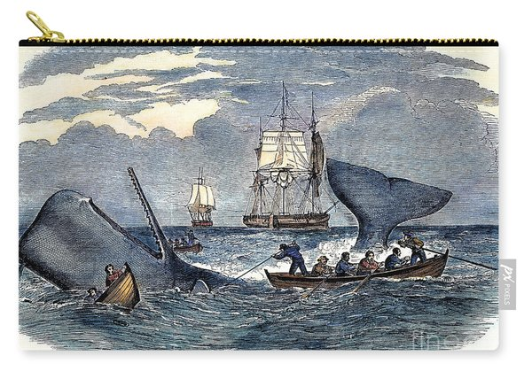 Whaling In South Pacific Carry-all Pouch