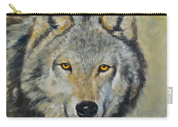 Carry-all Pouch featuring the painting Heres Lookn At You..kid....kid....kid by Cliff Spohn