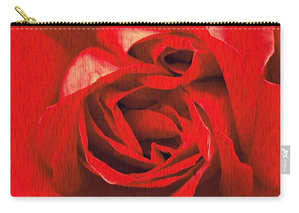 Carry-all Pouch featuring the painting Whats In A Rose? by Vix Edwards