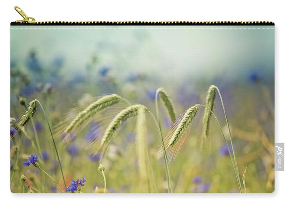 Wheat And Corn Flowers Carry-all Pouch