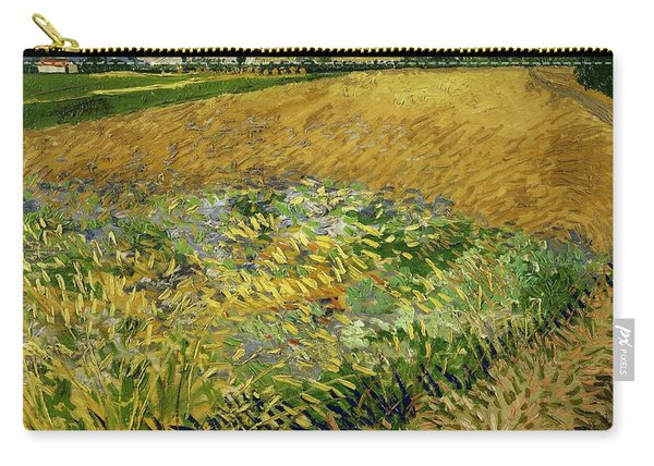 Wheat Field With Alpilles Foothills In The Background At Wheat Fields Van Gogh Series, By Vincent  Carry-all Pouch