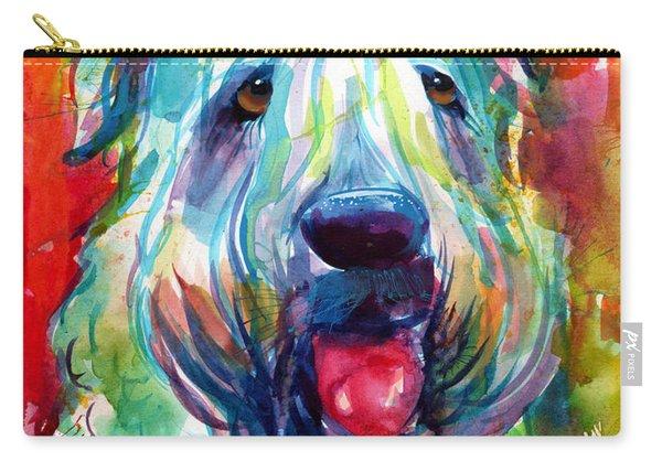 Wheaten Terrier Dog Portrait Carry-all Pouch