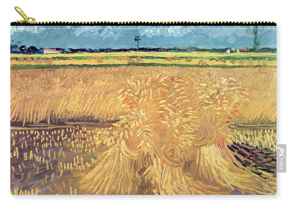Wheatfield With Sheaves Carry-all Pouch