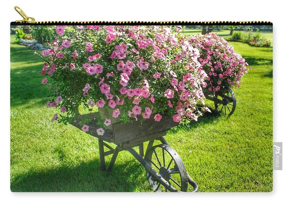 2004 - Wheel Barrow Full Of Flowers Carry-all Pouch
