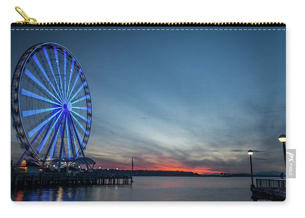 Wheel On The Pier Carry-all Pouch