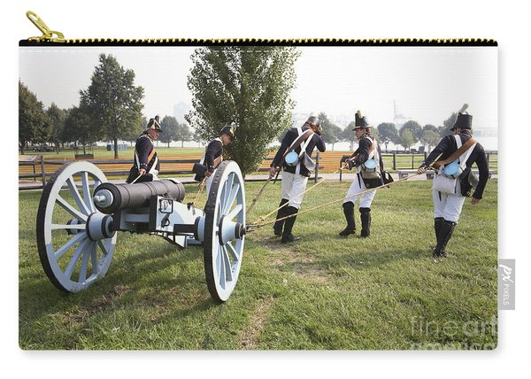 Wheeling The Cannon At Fort Mchenry In Baltimore Maryland Carry-all Pouch