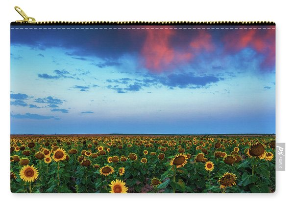 Carry-all Pouch featuring the photograph When Clouds Dance by John De Bord