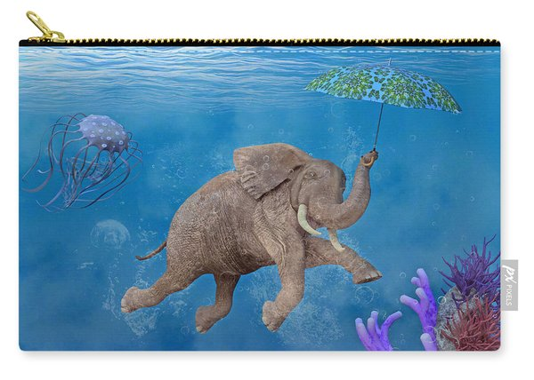When Elephants Swim Carry-all Pouch