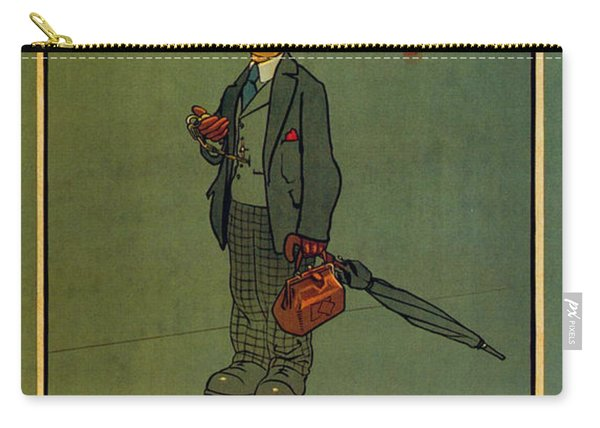 When In Doubt Take The Underground - London Underground - Retro Travel Poster - Vintage Poster Carry-all Pouch