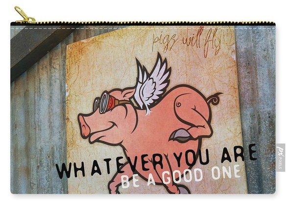 When Pigs Fly Quote Carry-all Pouch