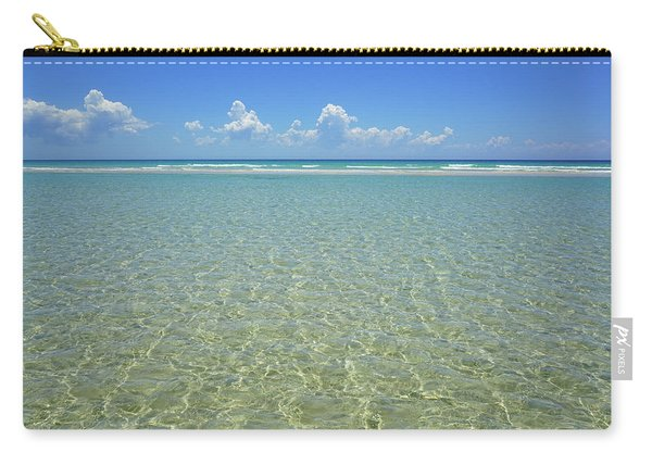 Where Crystal Clear Ocean Waters Meet The Sky Carry-all Pouch