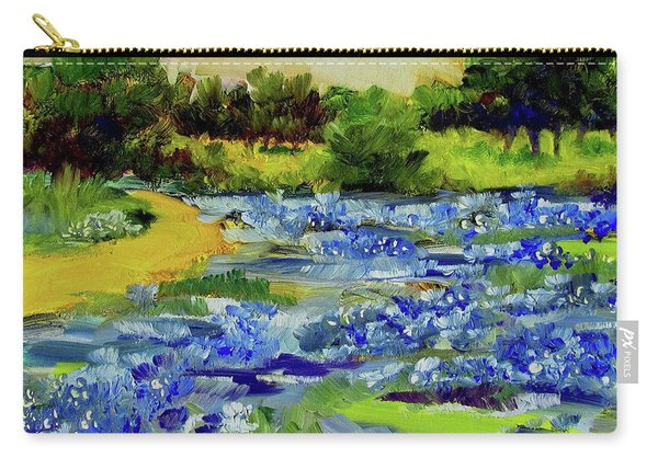 Where The Beautiful Bluebonnets Grow Carry-all Pouch