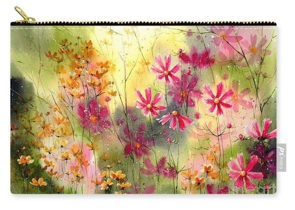 Where The Pink Flowers Grow Carry-all Pouch