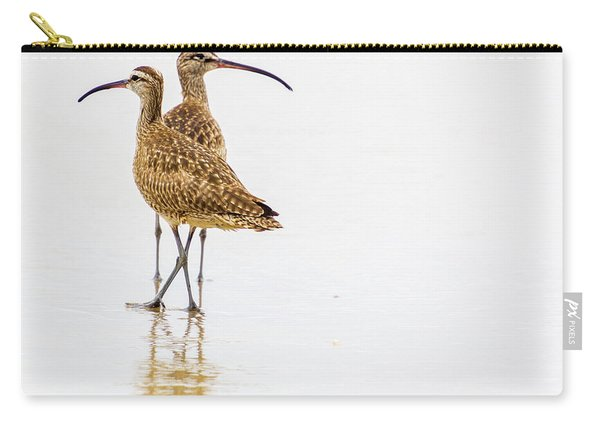 Whimbrel Sandpiper On The Beach Carry-all Pouch