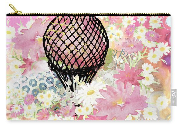 Whimsical Musing High In The Air Pink Carry-all Pouch