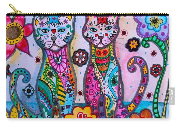 Whimsical Talavera Cats Carry-all Pouch