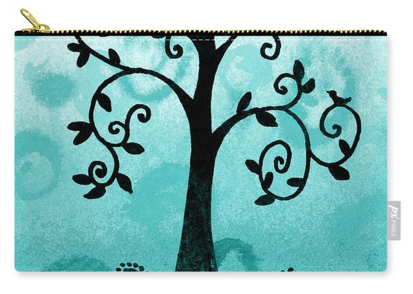 Whimsical Tree With Birds Carry-all Pouch