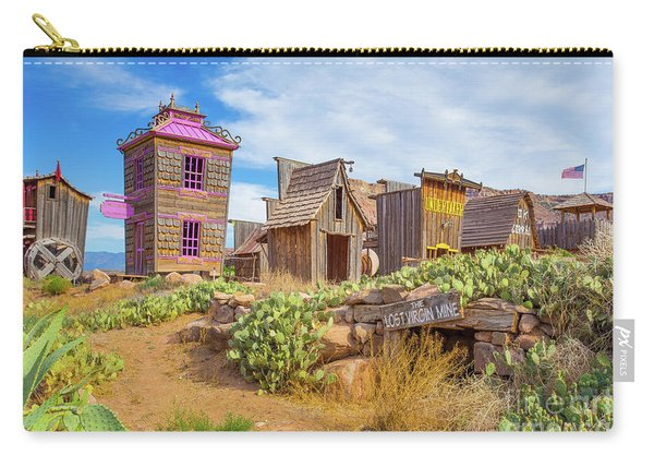 Whimsical Western Town The Lost Virgin Mine Carry-all Pouch