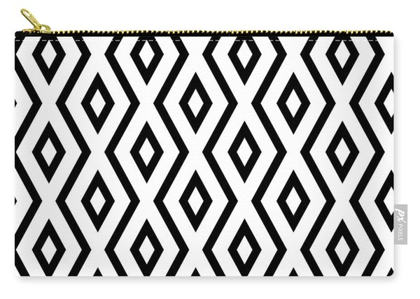 White And Black Pattern Carry-all Pouch