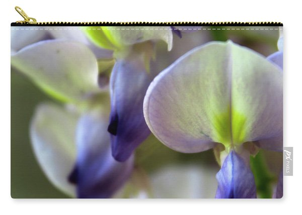 Wisteria White And Purple Carry-all Pouch