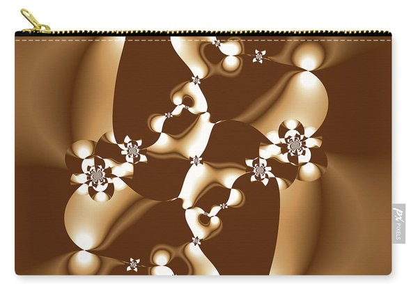 White And Milk Chocolate Fractal Carry-all Pouch