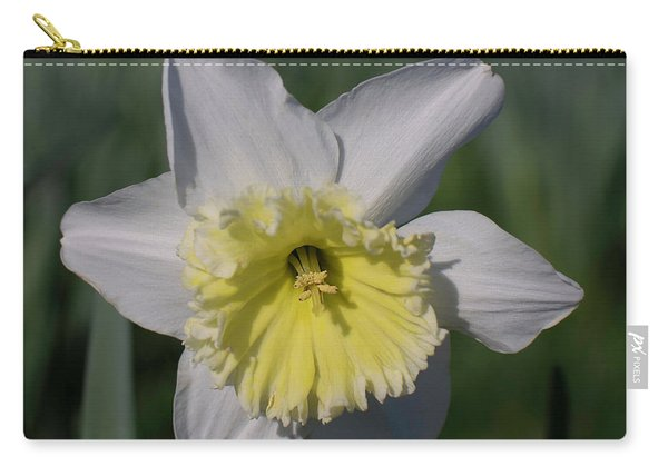 White And Yellow Daffodil Carry-all Pouch