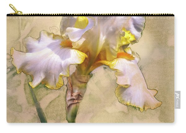 White And Yellow Iris Carry-all Pouch