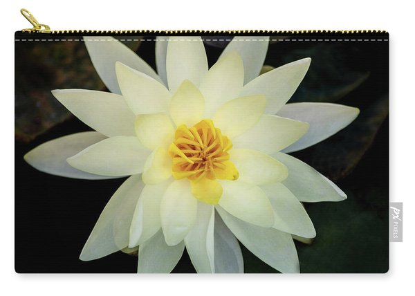White And Yellow Water Lily Carry-all Pouch