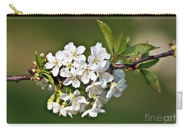 White Apple Blossoms Carry-all Pouch