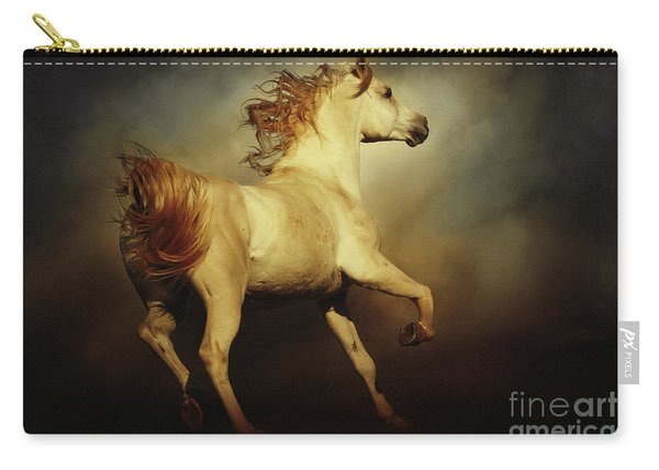 White Arabian Horse With Long Beautiful Mane Carry-all Pouch