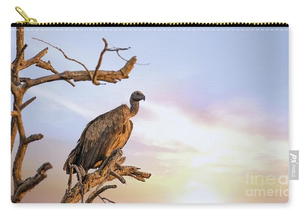 White-backed Vulture At Sunset In Kruger National Park Carry-all Pouch