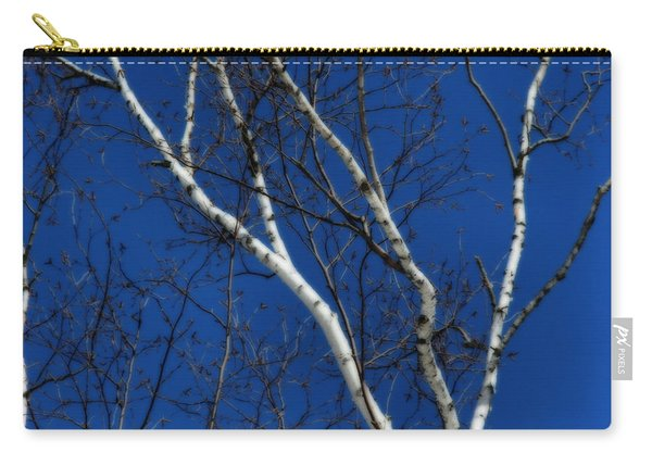 White Birch Blue Sky Carry-all Pouch