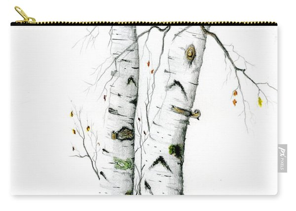 White Birch Carry-all Pouch