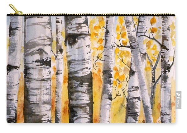 White Birch Meadow Carry-all Pouch