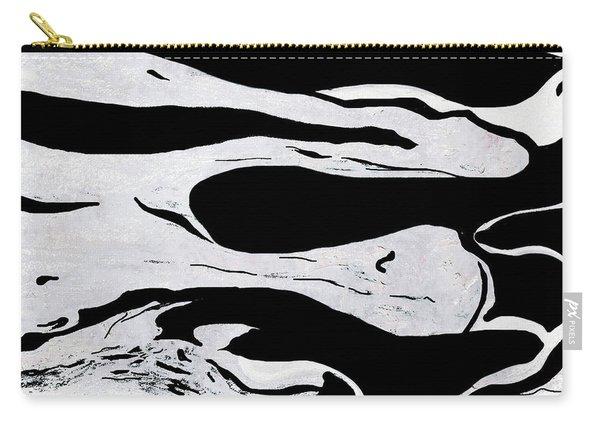White Black Modern Art  Carry-all Pouch
